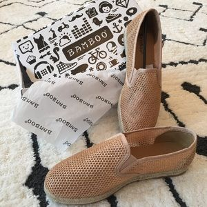 Rose Gold Glittery Espadrilles {NWT} - 8.5 (fit 9)